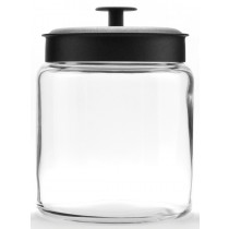 Image of Anchor Jar Glass Montana 2.9Ltr With Black Lid
