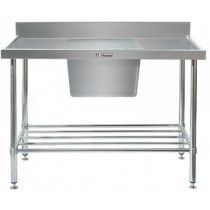 Simply Stainless 600 Series Sink Bench Center Bowl With Splashback