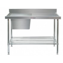 Simply Stainless 700 Series Sink Bench Left Bowl With Splashback