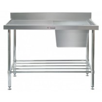 Simply Stainless 600 Series Sink Bench Right Bowl With Splashback