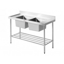 Simply Stainless 700 Series SS06.7.1500 Double Sink With Splashback