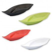 Image of Ryner Melamine Leaf Bowl Lime 500 x 240 x 60mm