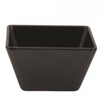Image of Ryner Melamine Square Bowl Black 130 x 130 x 70mm