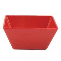 Image of Ryner Melamine Square Bowl Red 180 x 180 x 85mm