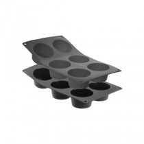 Image of MoulFlex Mould Silicone Muffin 75 x 75 x 35mm/6 x 97ml