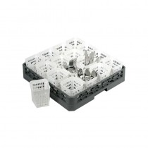 Image of Cutlery Holder Plastic Square White 108 x 108 x 138Mm
