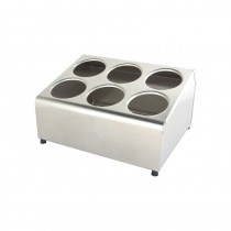 Image of Cutlery Holder Cylinder 6 Compartments S/S