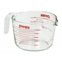 Image of Pyrex Measuring Jug Glass 1ltr/4 Cup