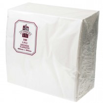 Caprice 2ply Dinner Napkin White 100/Pkt