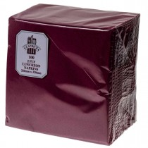 Caprice 2ply Lunch Napkin Burgundy 100/Pkt