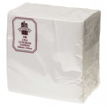 Caprice 2ply Lunch Napkin White 100/Pkt