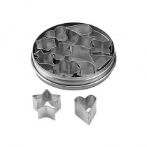 Image of Chef Inox Cutter Set S/S Crinkled 14Pce 25 - 115mm
