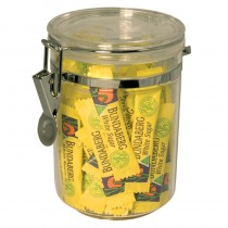 Clear Acrylic Storage Canister Round 800ml