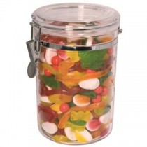 Clear Acrylic Storage Canister Round 1.8ltr