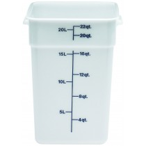 Image of Cambro Camsquare Food Container Poly White 20.8ltr (6)
