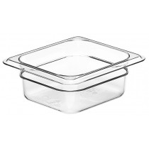 Cambro 62CW Food Pan 1/6 Size 65mm Clear