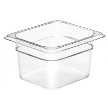 Cambro Food Pan 1/6 Size 100mm Clear (6)