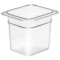 Cambro Food Pan 1/6 Size 150mm Clear (6)