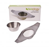 Teaology Tea Strainer S/S With Drip Bowl