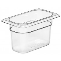 Cambro 94CW Food Pan 1/9 Size 100mm Clear
