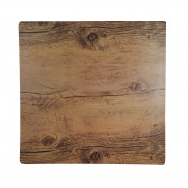 Melamine Tray Square Wood Effect Oak 310 x 310mm (20)