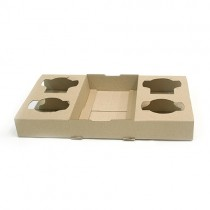Drink Holder Cardboard 4 Cup Disposable 100/Ctn