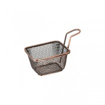 Moda Mini Fry/Service Basket Rectangle Antique Copper 70 x 80 x 60mm