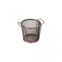Moda Brooklyn Service Basket Round 2 Handles Antique Copper 80 x 90mm