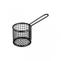 Moda Mini Fry Basket Round Black 84 x 80mm
