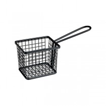 Mini Fry/Service Basket Rectangle Black 94 x 78 x 80mm