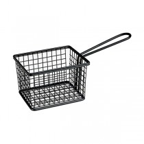 Mini Fry/Service Basket Rectangle Black 120 x 100 x 80mm