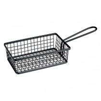 Mini Fry/Service Basket Rectangle Black 160 x 104 x 40mm
