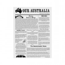 Image of Newsprint Greaseproof Paper 310 x 380mm