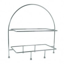 Display Stand 2 Tier Rectangular Plate Ring 420 x 240mm