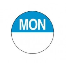 "Food Safety Labels Round  24mm Removable ""Monday"" Blue 1000/Roll"