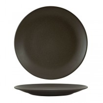 Zuma Round Coupe Plate Charcoal 285mm (6)