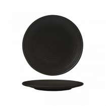Zuma Coupe Plate Ribbed 210mm Charcoal (6)