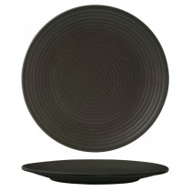 Zuma Charcoal Round Coupe Plate Ribbed 310mm