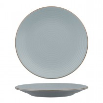 Zuma Bluestone Ribbed Round Plate 310mm