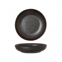 Luzerne Round Bowl Lava Black Matt 210mm
