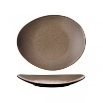 Luzerne Rustic Chestnut Oval Plate 225 x 125mm