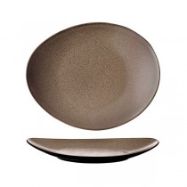 Luzerne Rustic Chestnut Oval Plate 290 x 245mm