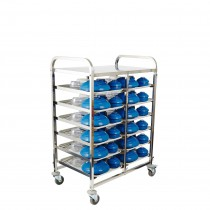 Trolley Meal Delivery 6 Tier 12 Tray