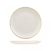Churchill Stonecast Round Coupe Plate 260mm Barley White