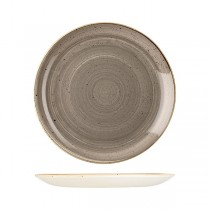Churchill Stonecast Round Coupe Plate 288mm Peppercorn Grey