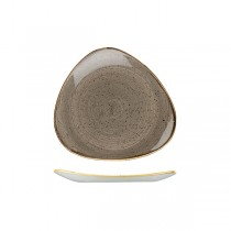 Churchill Stonecast Triangular Plate 229 x 229mm Peppercorn