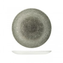 Churchill Raku Quartz Round Coupe Plate Black 260mm (12)