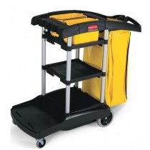 Rubbermaid High Capacity Cleaning Cart Black