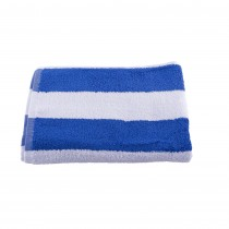 Pool Towel Blue & White Stripe