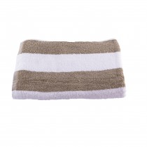 Pool Towel Linen & White Stripe